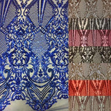 Gold Chantal Deluxe Sequins Lace Fabric - Fashion Fabrics Los Angeles