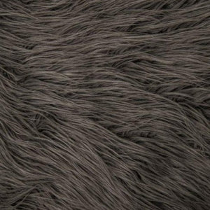 Charcoal Gray Mongolian Long Pile Faux Fur Fabric - Fashion Fabrics Los Angeles