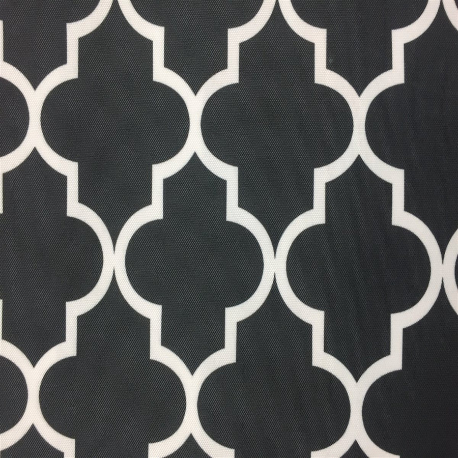 Black White Moroccan Print Indoor Outdoor Fabric - Fashion Fabrics Los Angeles