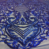 Royal Blue Chantal Deluxe Sequins Lace Fabric