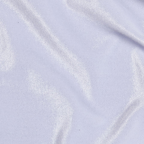 White Stretch Velvet Apparel Spandex Fabric