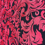 Red Ashlee Floral Lace Fabric
