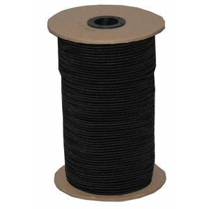 "1/4"" Black Knitted Elastic Band - Case of 30 Rolls - 8,640 Yards - Fashion Fabrics Los Angeles"