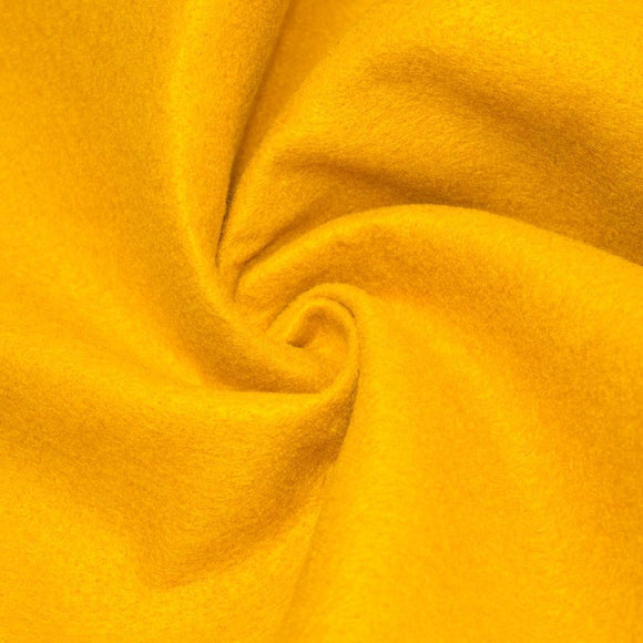 Gold Solid Acrylic Felt Fabric - Fashion Fabrics Los Angeles