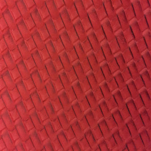 Red Basket Weave Vinyl
