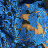 Royal Blue Ashlee Floral Lace Fabric