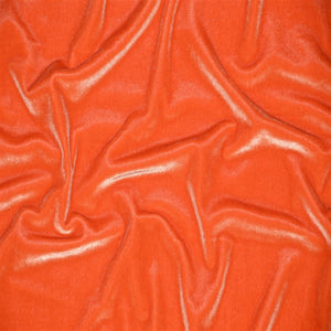 Stretch Velvet Spandex Fabric - Orange