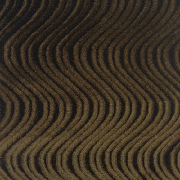 Dark Brown Swirl Velvet Flocking Fabric - Fashion Fabrics Los Angeles