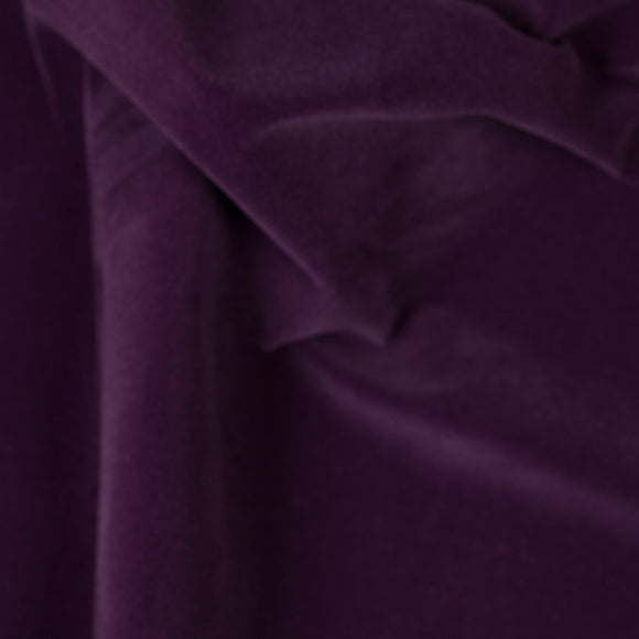 Purple Velvet Flocking Fabric - Fashion Fabrics Los Angeles