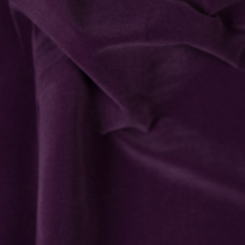 Solid Purple Velvet Flocking Fabric