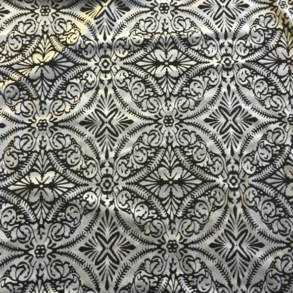 Silver Black Lili Burnout Stretch Velvet Spandex Fabric