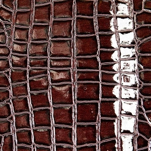 Dark Chocolate Crocodile Vinyl Fabric - Fashion Fabrics Los Angeles