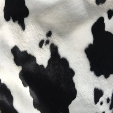 Black White Cow Velboa Faux Fur - Fashion Fabrics Los Angeles