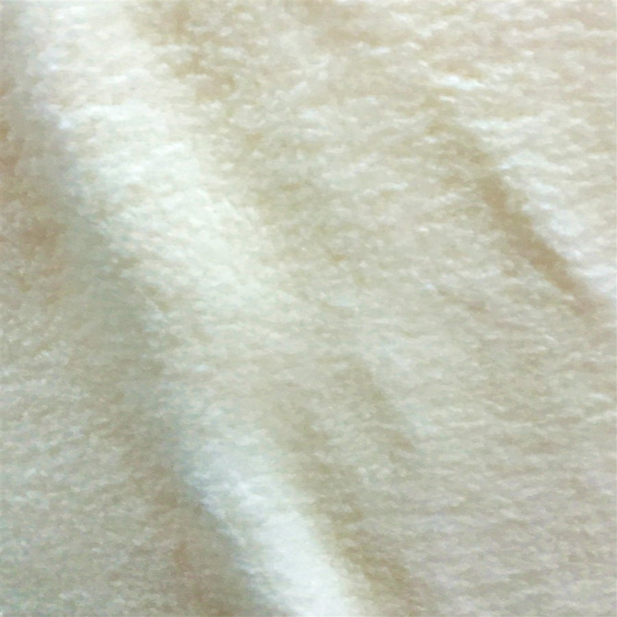 Ivory Solid Anti Pill Polar Fleece Fabric - Fashion Fabrics Los Angeles