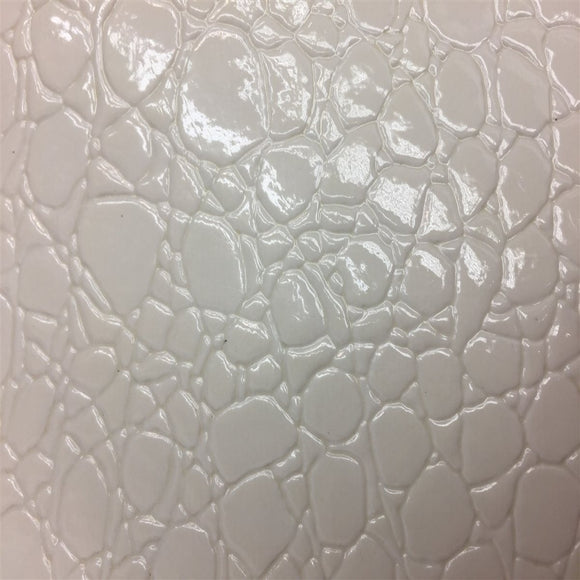 White Crocodile Vinyl Fabric