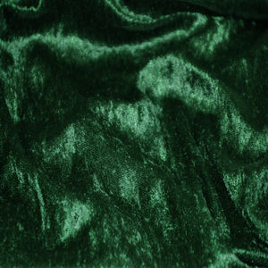 Hunter Green Panne Crush Stretch Velvet Fabric - Fashion Fabrics Los Angeles