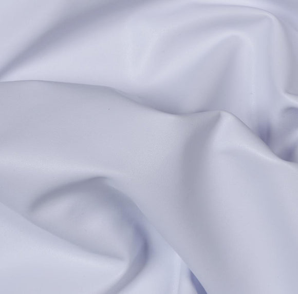 White Two Way Stretch Vinyl Fabric