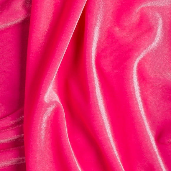 Pink Stretch Velvet Spandex Fabric