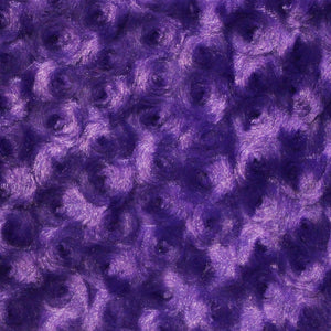 Purple Swirl Rose Bud Fabric