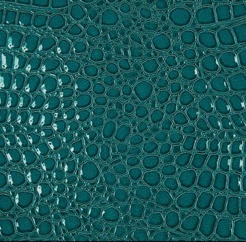 Turquoise Crocodile Vinyl Fabric - Fashion Fabrics Los Angeles