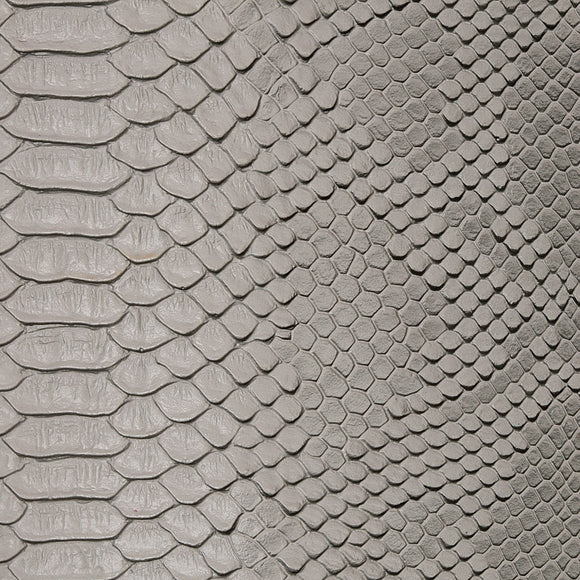 Gray Faux Viper Sopythana Snake Skin Vinyl Fabric - Fashion Fabrics Los Angeles