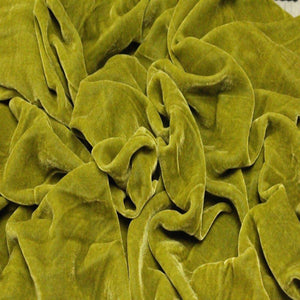 Pistachio Green Silk Velvet Fabric - Fashion Fabrics Los Angeles