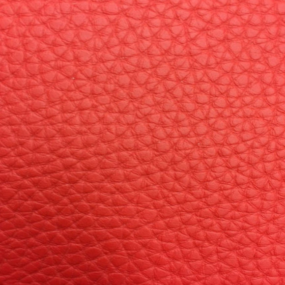 Red Textured PVC Leather Vinyl Fabric