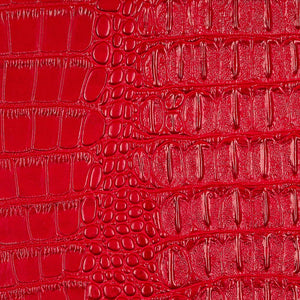 Red Metallic Gator Vinyl Fabric - Fashion Fabrics Los Angeles