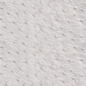 White Faux Ostrich Vinyl Fabric