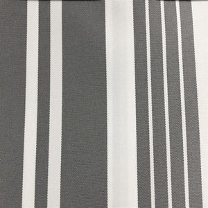 Gray White Multi Striped Oak 100% Waterproof Outdoor Canvas Patio Fabric - Fashion Fabrics Los Angeles