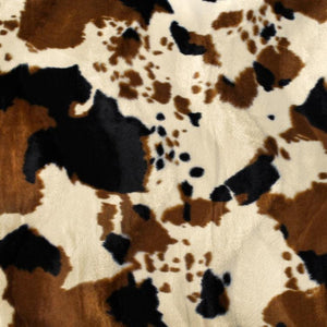 Brown Tan Cow Velboa Faux Fur - Fashion Fabrics Los Angeles