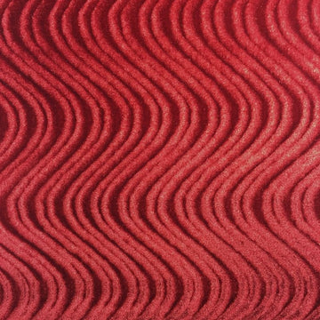Burgundy Swirl Velvet Flocking Fabric - Fashion Fabrics Los Angeles
