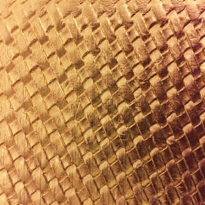 Gold Basket Weave Vinyl - Fashion Fabrics Los Angeles