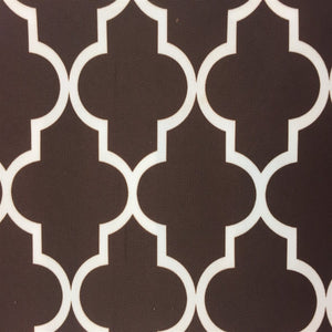 Brown Ivory Moroccan Print Indoor Outdoor Fabric - Fashion Fabrics Los Angeles