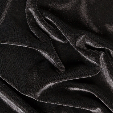 Black Stretch Velvet Apparel Spandex Fabric - Fashion Fabrics Los Angeles