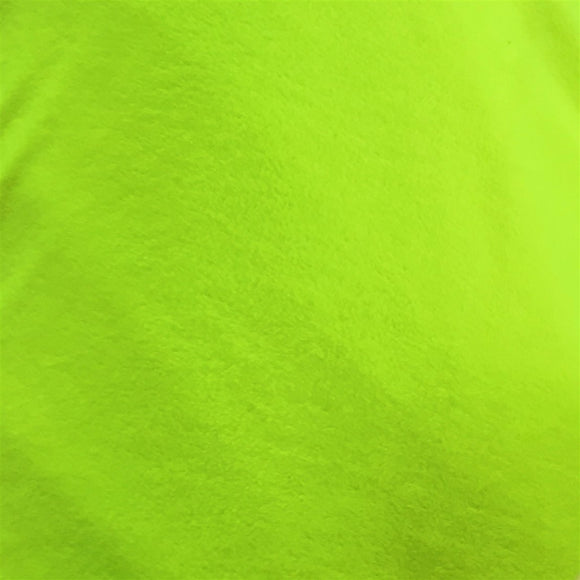 Highlighter Green Solid Anti Pill Polar Fleece Fabric - Fashion Fabrics Los Angeles
