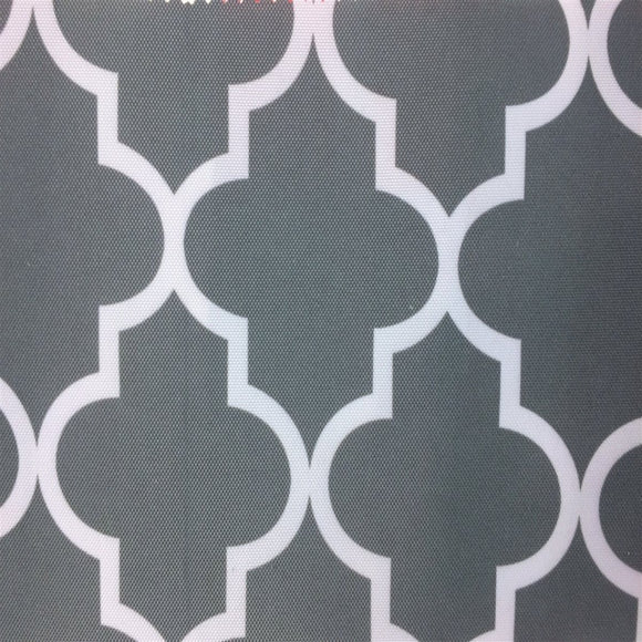 Gray White Moroccan Print Indoor Outdoor Fabric - Fashion Fabrics Los Angeles