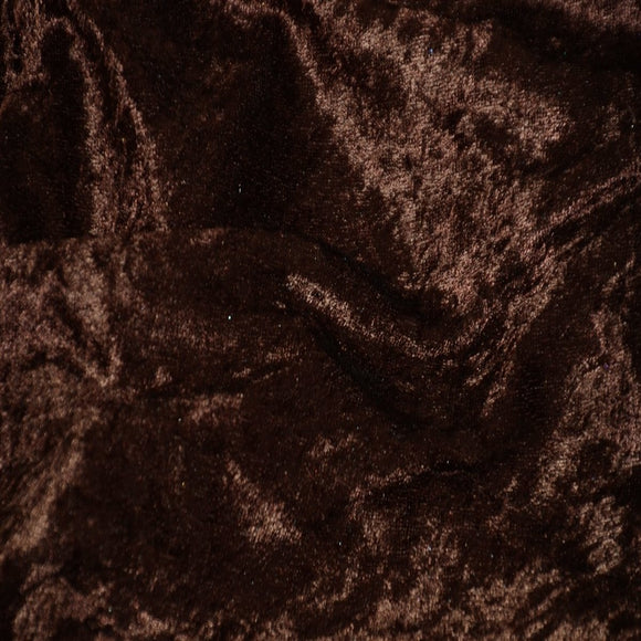 Brown Panne Crush Stretch Velvet Fabric - Fashion Fabrics Los Angeles