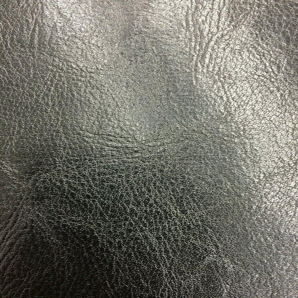 Black Amarillo Grain Shiny PVC Leather Vinyl Fabric - Fashion Fabrics Los Angeles