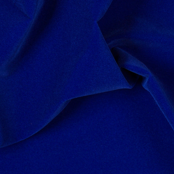Royal Blue Velvet Flocking - Fashion Fabrics Los Angeles