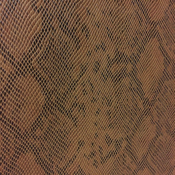 Bronze Matte Python Snake Skin Vinyl Fabric - Fashion Fabrics Los Angeles