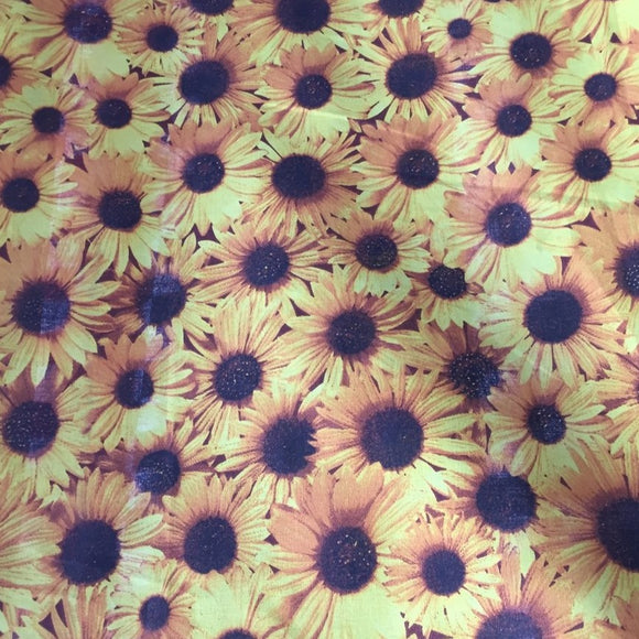 All Over Daisy Poly Cotton Fabric - Fashion Fabrics Los Angeles