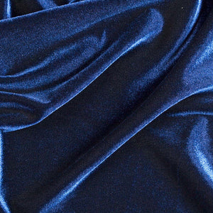 Navy Stretch Velvet Spandex Fabric - Fashion Fabrics Los Angeles