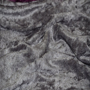 Charcoal Grey Panne Crush Stretch Velvet Fabric - Fashion Fabrics Los Angeles
