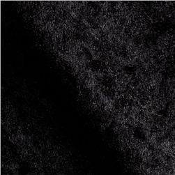 Solid Black Velvet Flocking Fabric