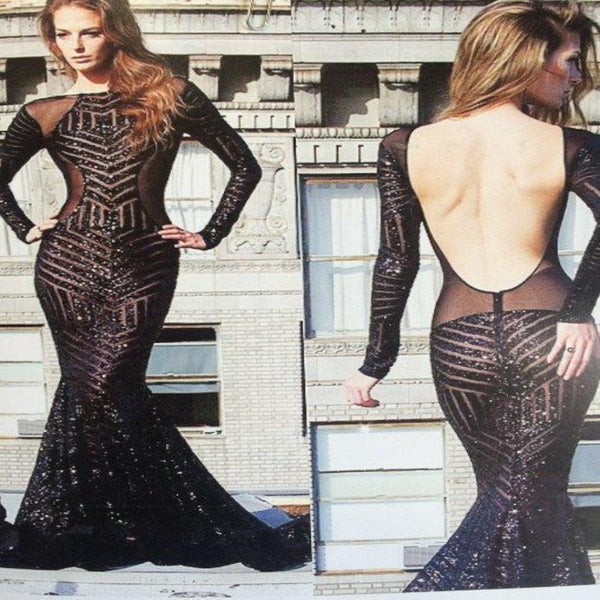 Black Bombshell Sequin Lace Fabric