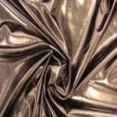Metallic Dark Bronze Apparel Spandex Fabric - Fashion Fabrics Los Angeles
