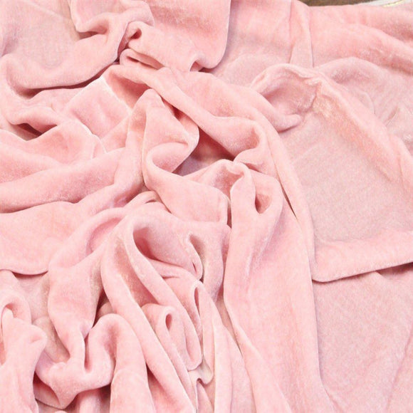 Light Pink Silk Velvet Fabric - Fashion Fabrics Los Angeles