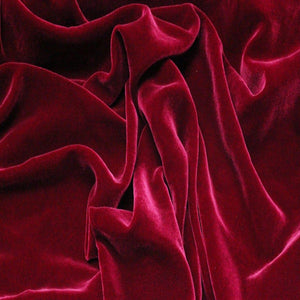 Rasberry Red Silk Velvet Fabric