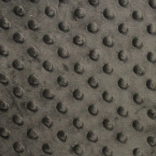 Charcoal Minky Dimple Dot Fabric - Fashion Fabrics Los Angeles
